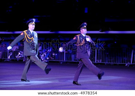 stock photo : Russian army officers at the Edinburgh Military Tattoo 2007
