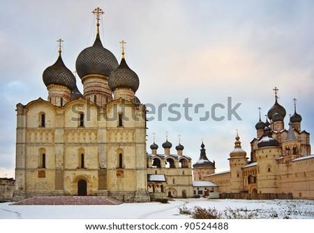 Russian Church in Rostov Kremlin castle, Russia