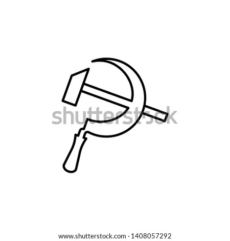 Russian, culture, sscb, logo icon. Element of Russian culture icon. Thin line icon for website design and development, app development. Premium icon Stok fotoğraf ©