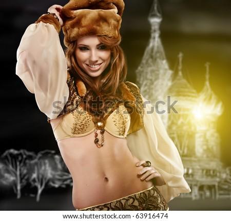 Russian dancing queen - stock photo