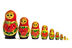 russian doll babushka single row