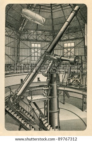 Russian empire circa 1896 large refractor of pulkovo russian empire circa 1896 large refractor of pulkovo observatory near st petersburg antique ccuart Gallery