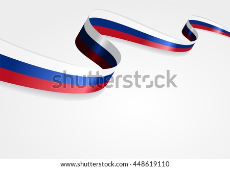 Russian flag background. Raster version.
