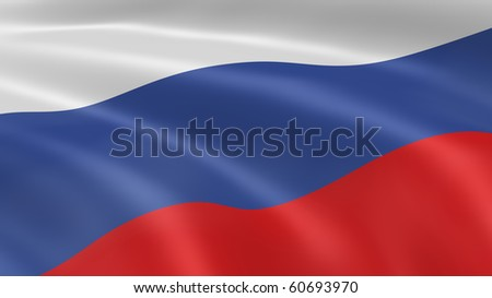Russian flag in the wind. Part of a series.