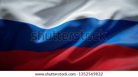 Russian flag. Russia. #1352569832