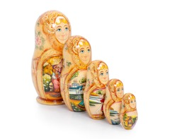 Russian folk wooden nesting doll