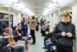 Russian Metro (Subway) (Carriage) blur