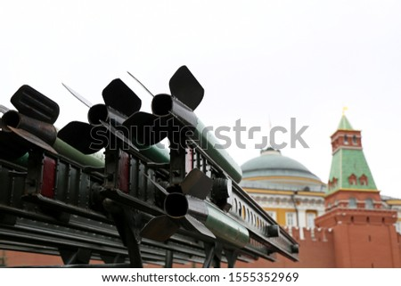 Russian military, missile launcher system against the Moscow Kremlin on Red square
