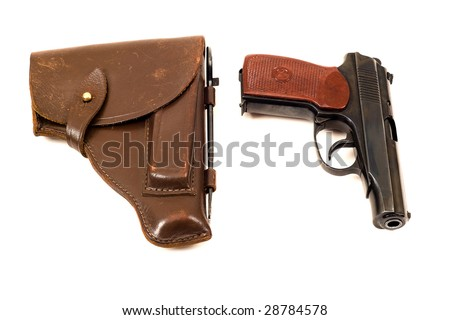Russian 9mm handgun and holster