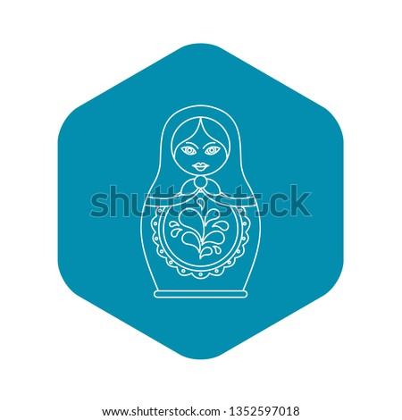 Russian nesting doll icon. Outline illustration of russian nesting doll icon for web Stock fotó ©