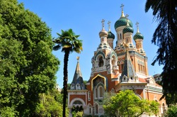 Russian Orthodox Cathedral (Cathedrale Orthodoxe Saint-Nicolas) in Nice, France