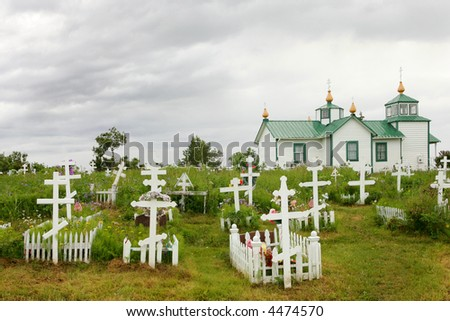 Russian Orthodox church  and cemetery in Ninilchik, Kenai Peninsula, Alaska