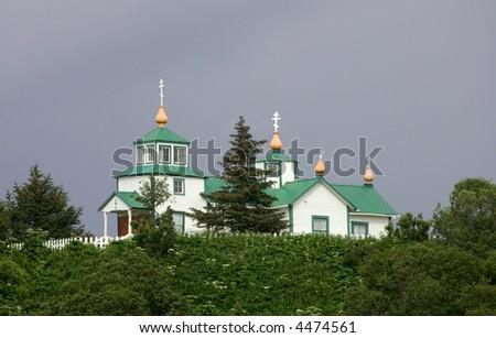 Russian Orthodox church  Ninilchik, Kenai Peninsula, Alaska