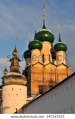 Russian Orthodox Church of Rostov, in the Kremlin, along the Golden Ring outside of Moscow.