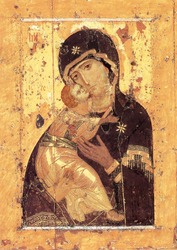 Russian, Orthodox, Eastern Church,Virgin, Virgin Mary, Vladimir Icon of the Mother of God