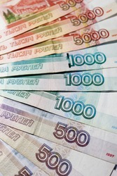 russian roubles banknotes background wallpaper