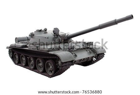 Russian tank isolated on white background - stock photo