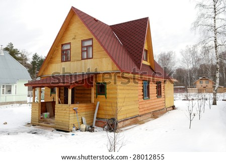 Russian typical village house
