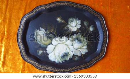 Russian Zhostovo tray #1369303559