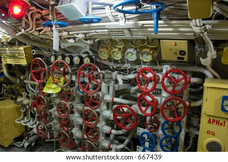 Russion Submarine - Red October - controll room (exclusive at shutterstock)
