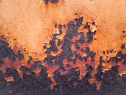 Rust and corrosion in the weld.Corrosion of metal.Rust of metals.Corrosive Rust on old iron.Use as illustration for presentation.