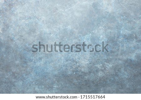 Rust and oxidized metal background. Old metal iron panel. Vintage abstract background with dim gray and blue, colors and space for text or image. Old distressed blue grungy wall background Сток-фото ©