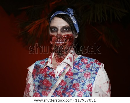 RUST, GERMANY - OCTOBER 31: Halloween party SWR 3, many people celebrate the Halloween party at the Europa Park in Rust, Germany. October 31, 2012.