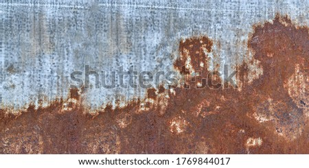 Rust metal plate texture. Abstract rusted background for design exterior decoration and industrial construction. panorama picture. stock photo