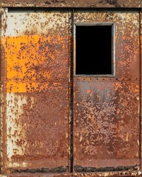 Rust metal wall from the old train container background