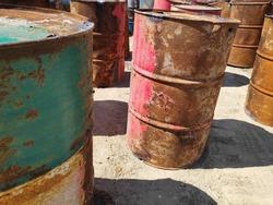 Rust on a 200 liter tanks.