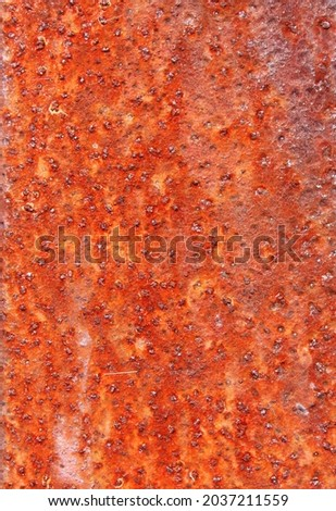Rust on metal. Texture, background, pattern. When iron comes into contact with water and oxygen, it rests. If salt is present, e.g. B. in sea water or salt spray, iron tends to rust faster. Stock fotó ©