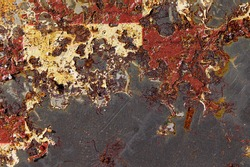 Rust on metal texture, pattern. Eaten away with rust. Ferric oxide. Environmental collapse. Land of the future. Nuclear catastrophe. Virus.