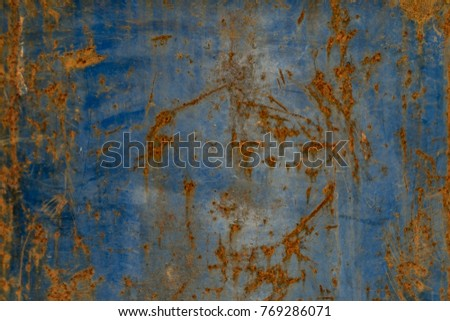 Rust on Old Steel. blue steel oxide texture #769286071