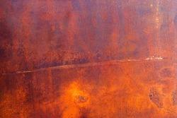 Rust on raw steel background