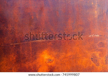 Rust on raw steel background stock photo