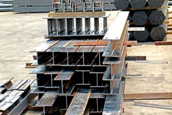 Rust steel channels for raw material of steel tower in transmission line