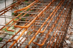 Rust steel rod for construction