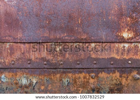 Rust surface At Old Train Station