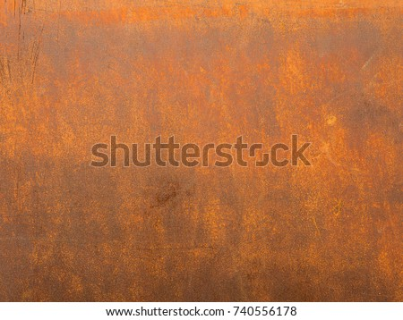 Rust surface. Close up of black rust on an old sheet of metal texture. High quality grunge rusty old and dirty metal plate. Iron surface full area. - background pattern.
