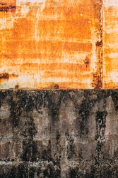 Rust Texture Wall Background Concrete And Metal