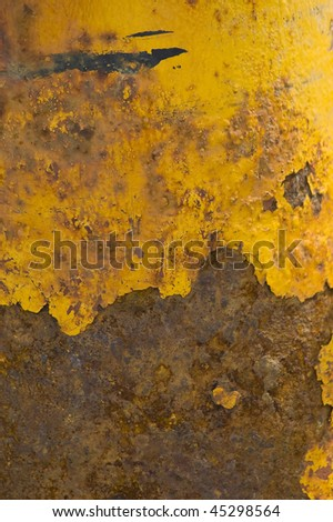 Rusted brown and yellow metal surface
