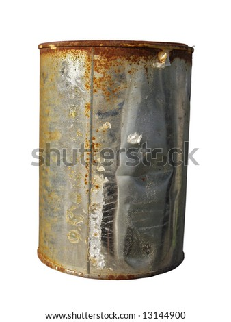 rusted can - stock photo