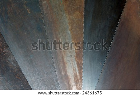 Rusted Hand Saw Blades