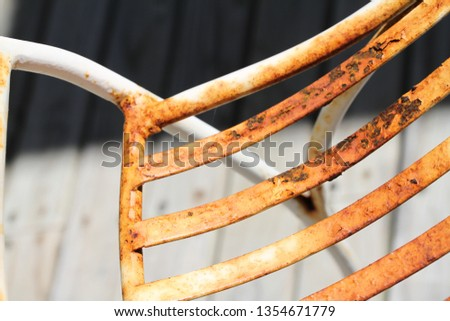 Rusted metal frame