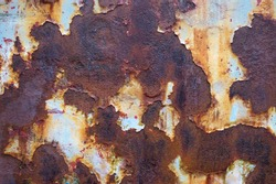 Rusted metal texture background. Abstract corroded iron color wallpaper.