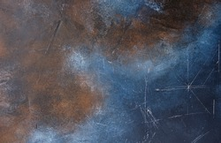 Rusted metal texture. Blue with a rust effect is similar to a metal texture.