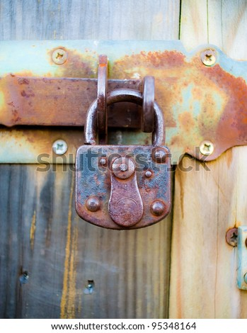 Rusted padlock