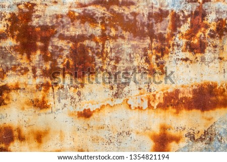 Rusted sheet of metal and grunge texture. Corrosion and oxidized background.  Foto d'archivio ©