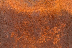 Rusted steel plate. The rusted steel plate caused by moisture. Steel plate rust caused by water. Old rusted steel sheet caused by water.