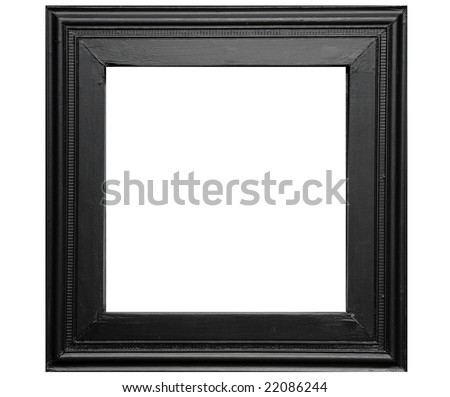 Rustic black photo frame - isolated on white background